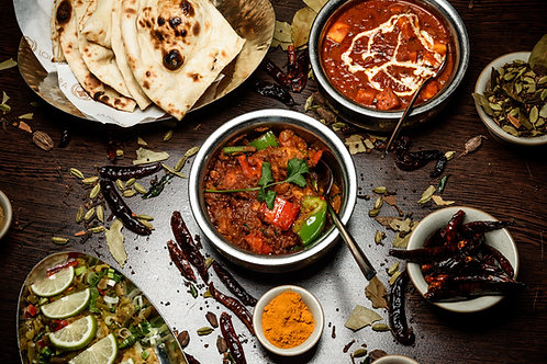 Indian Dinner Feast for Two People at The Colonial Restaurant, Sydney