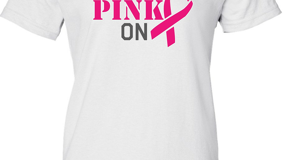 Women's Juniors T Shirt Breast Cancer Awareness Get Your Pink On