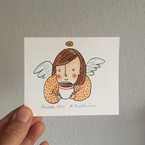Angel with a cup of tea