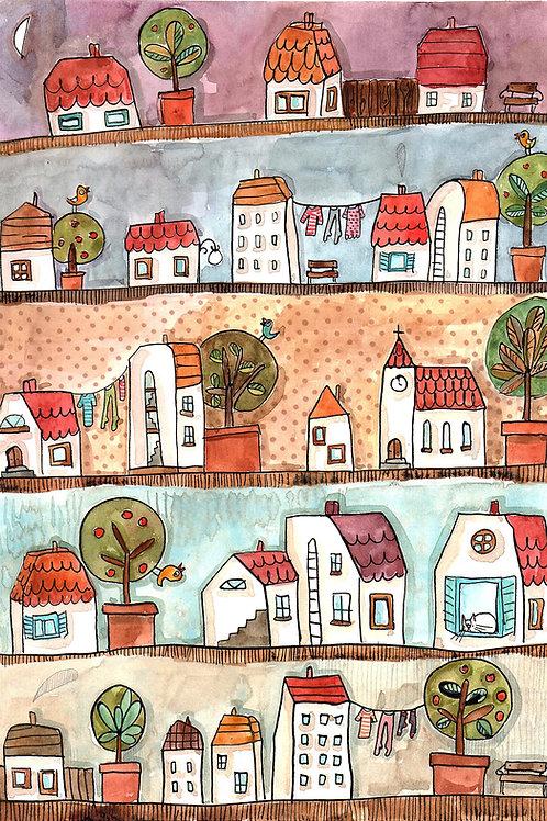 houses -original illustration