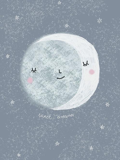 Full moon, poster 30x40 cm