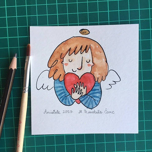 Angel with a heart