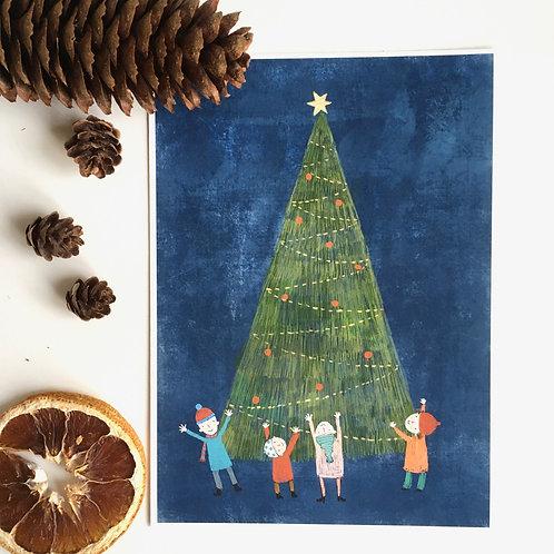 Christmas tree - art print