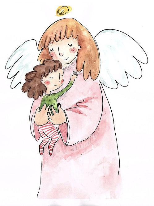 angel guardian - original illustration