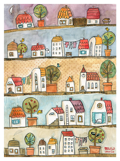 my town, poster 30x 40 cm