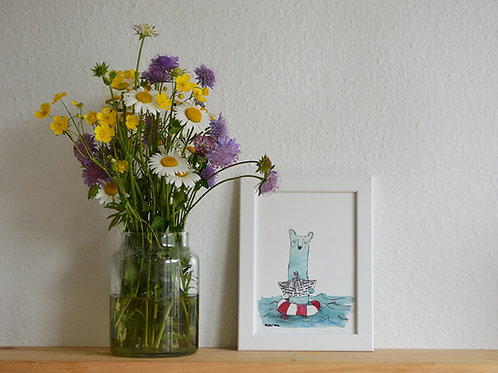 Seaside, small art print