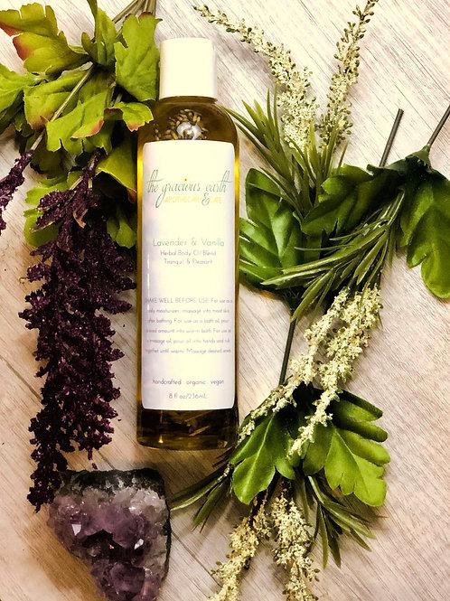 Lavender & Vanilla Herbal Body Oil Blend