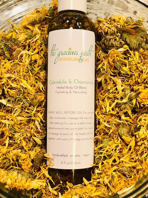 Calendula & Chamomile Herbal Body Oil Blend