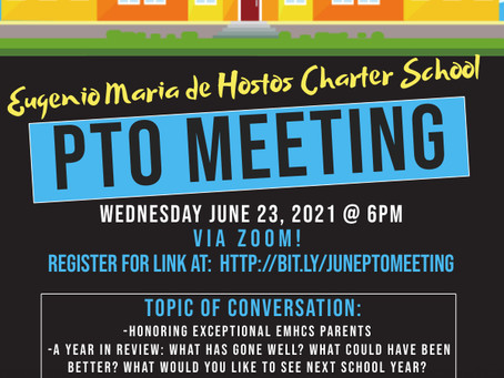 Join us on June 23rd at 6pm for PTO!