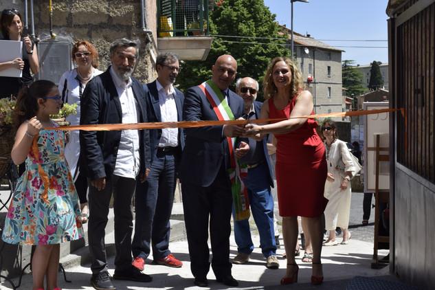 Il sindaco Eugenio Stelliferi; Piervirgilio Dastoli; Lutz Klinkhammer; Teresa Marasca; Cinzia Pierantonelli