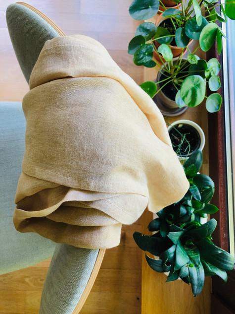 liście orzecha włoskiego_walnut leaves_len_linen