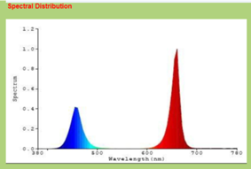 Red - Blue plant growth spectrum