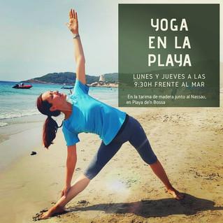 Agenda: yoga en la playa