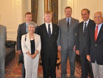 Embajador de Bélgica en Chile visita la Cámara Nacional de Comercio