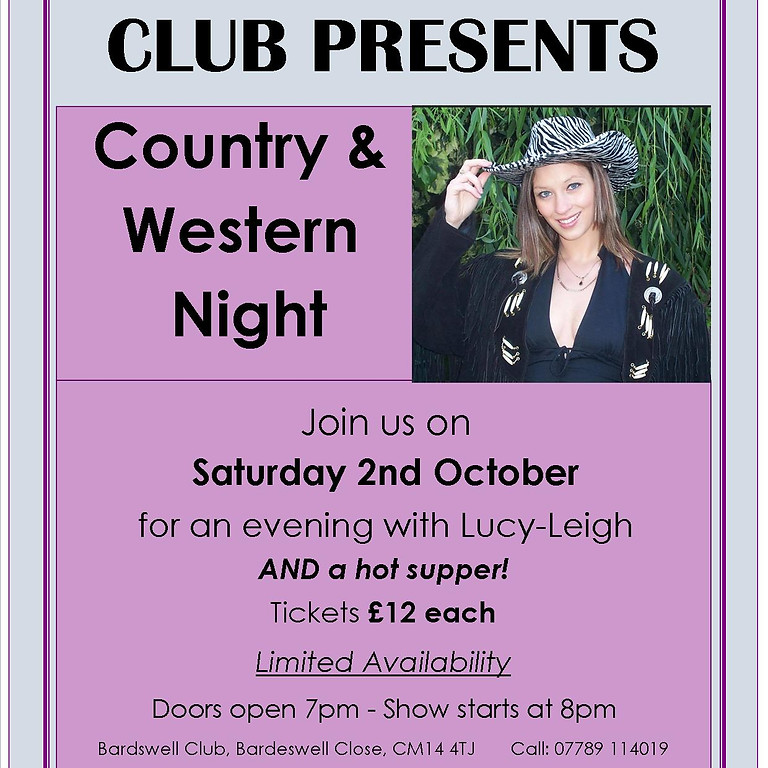 Country and Western Night with Lucy Leigh