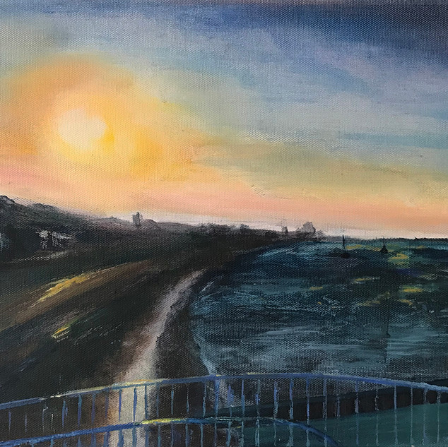 Sunrise from Gypsy Bridge bridge.