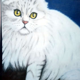 White Persian. Diane Wiseman