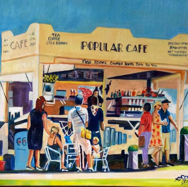 Popular Café at the poppy display Shoebury