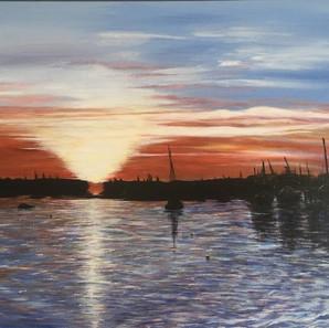 Leigh on Sea Sunset.