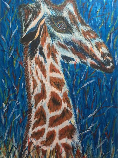 Blue Mood Giraffe.
