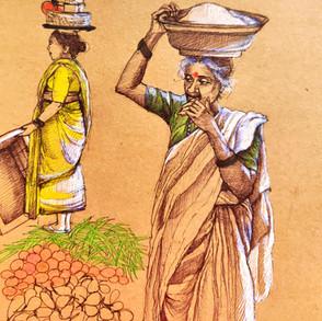 Vegetable market,