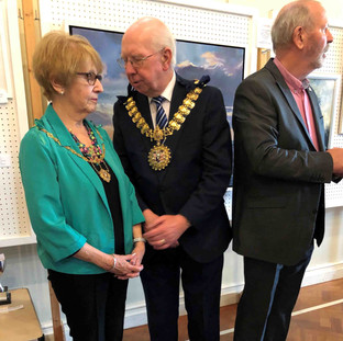 The Mayor opens the exhibition