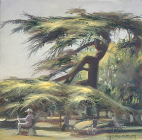 """""""Painting in the Shade – A day out with the Southend Art Club at Westcliff""""."""