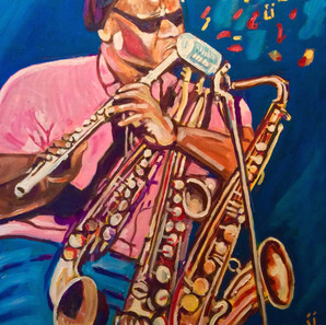 Roland Kirk jazz multi-instrumentalist.