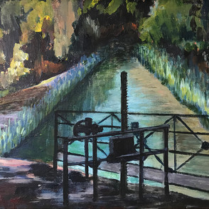 Lock Gate on The Canal du Midi.