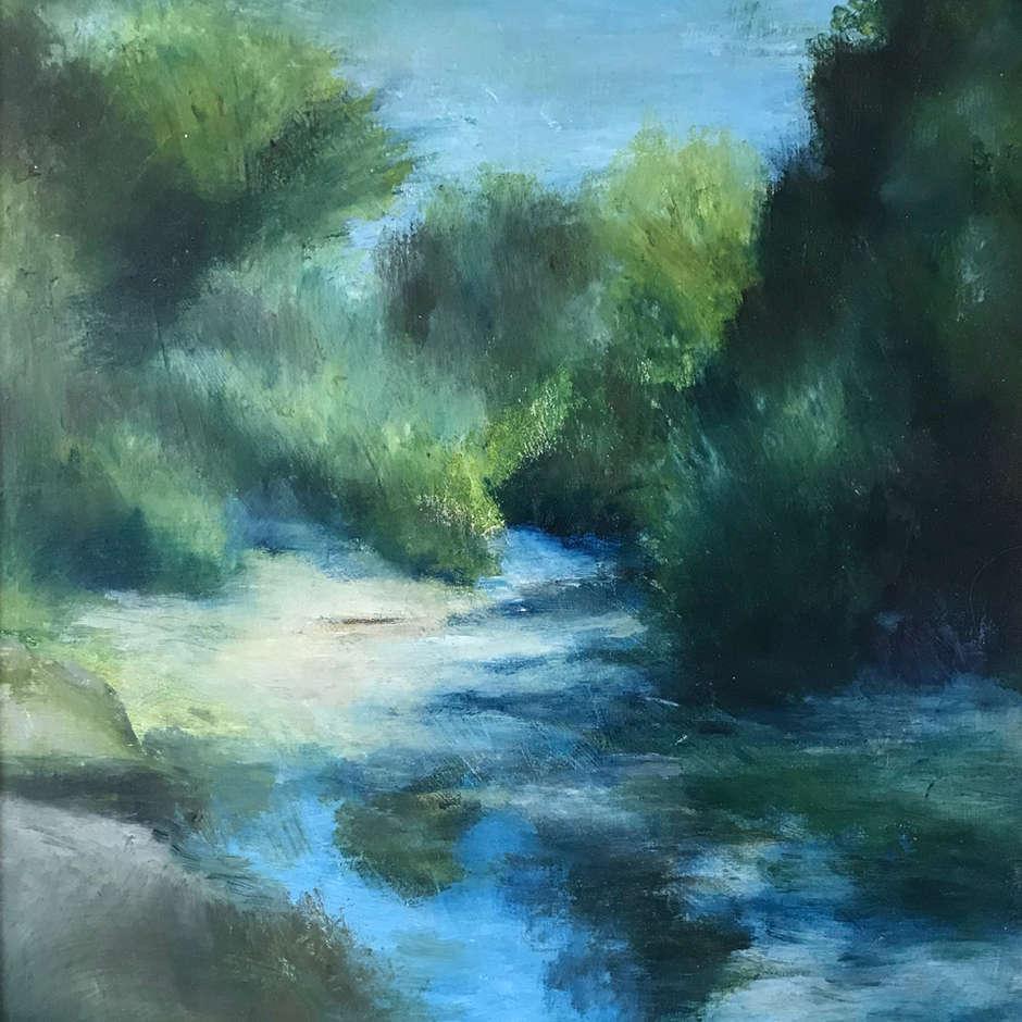 La Cesse River at Salleles d'Aude, Ann Henson
