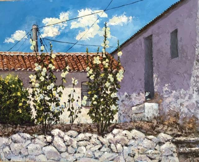 Spanish Hollyhocks. / Pauline Grove.