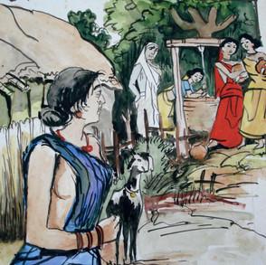 Women at village well.
