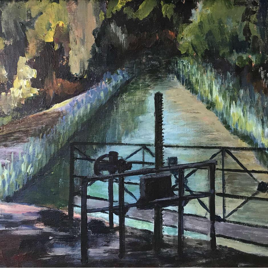 Lock Gates on The Canal du Midi, Ann Henson