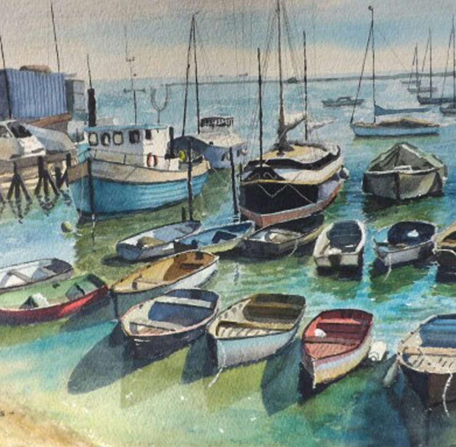 Moored boats, Leigh / Ian Deaves