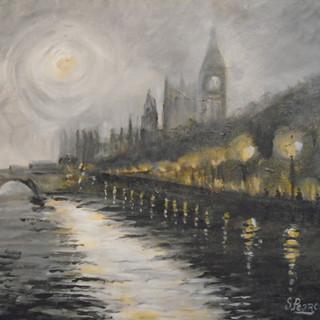 'Westminster at Night' - Acrylic.JPG