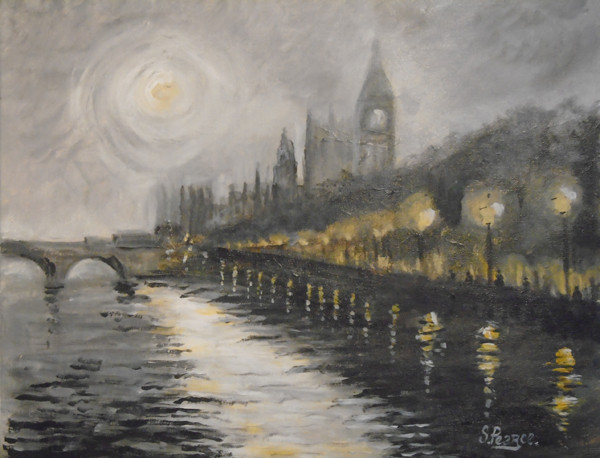 'Westminster at Night' - Acrylic.JPG