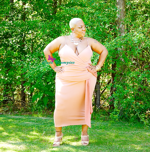 Plus Size Dusty Pink Bodycon Dress