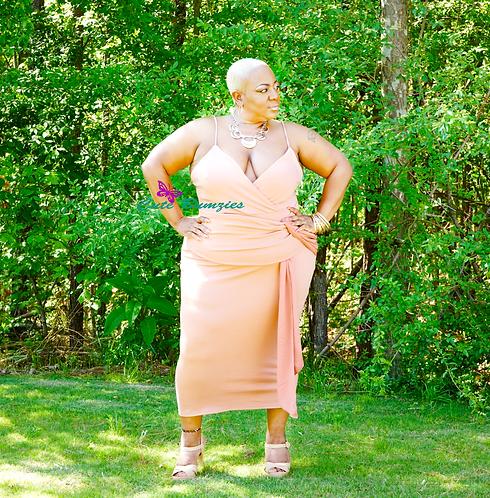 Plus Size Dusty Pink Bodycon Dress