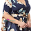 Thumbnail: Plus Size Navy Floral print, a-line, maxi dress