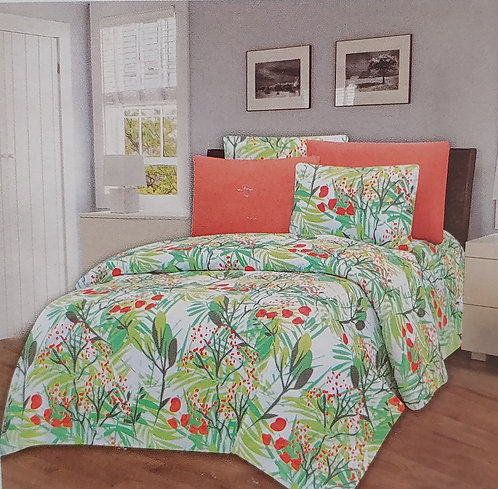 Glory Home Queen Sheet Set 1800 Series with Floral Print- Wrinkle Free