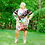 Thumbnail: Plus Size Floral printed off shoulder bodycon dress, short sleeves