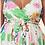 Thumbnail: New Arrival -  Floral print v-neck skater dress with adjustable spaghetti straps