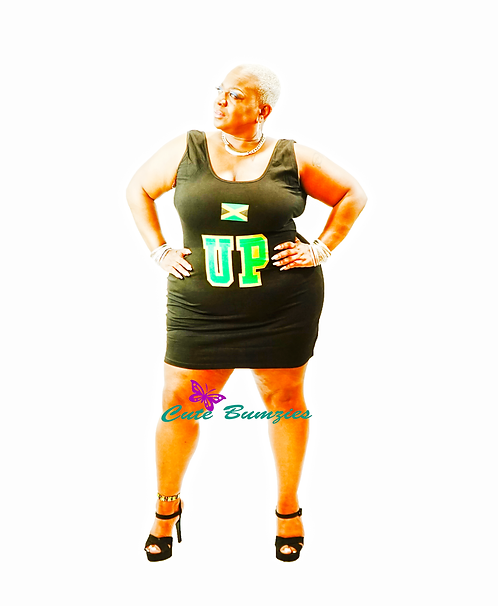 Plus Size UP LIKE 7 SUBLIMATION BODYCON DRESS - LIMITED EDITION