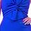 Thumbnail: Plus Size Blue knot front detailed strapless mermaid dress