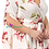 Thumbnail: Plus Size Ivory Floral print, a-line, maxi dress