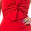 Thumbnail: Plus Size Red knot front detailed strapless mermaid dress