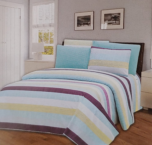 Glory Home Queen Sheet Set 1800 Series with Stripe Print- Wrinkle Free