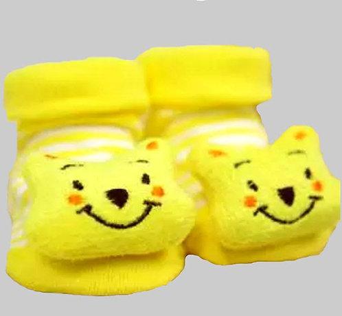Yellow Animal Socks