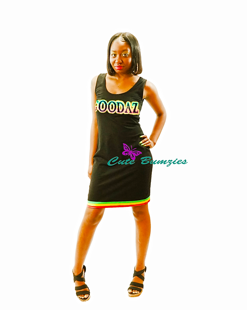 GOODAZ SUBLIMATION BODYCON DRESS