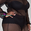 Thumbnail: Plus Size Off The Shoulder Long Sleeve Black Fish Net Romper